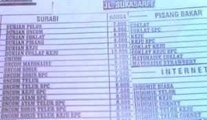Daftar Menu Surabi Sukasari