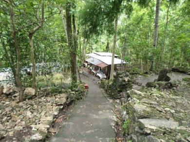 tangga menuju Air Terjun Lepo