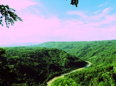 view dari puncak Kebun Buah Mangunan
