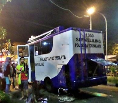 Mobil pelayanan perpanjangan SIM Keliling Kota Jogja