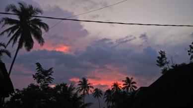 senja di kawasan Maninjau