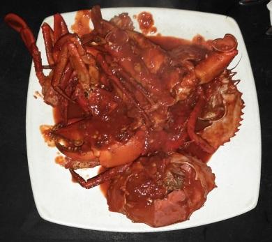 kepiting asam manis